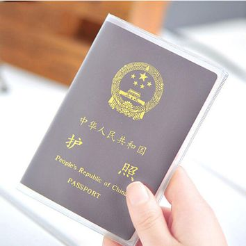 Silicone transparent waterproof dirt ID Card holders passport cover business card credit card bank card holders 9x 13.1cm