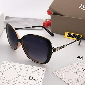DIOR trend retro elegant big box women's polarized sunglasses #4