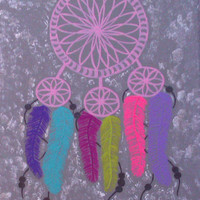 Dream catcher fashionable acrylic canvas painting for trendy girls room