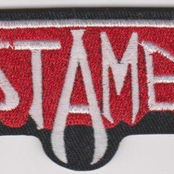 Testament Iron-On Patch White Letters Logo