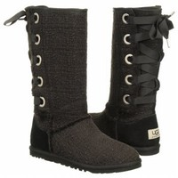 Women's UGG  Heirloom Lace Up Black Shoes.com
