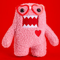 Pink Nerd Domo | Small Stuffed Domo Toy | fredflare.com