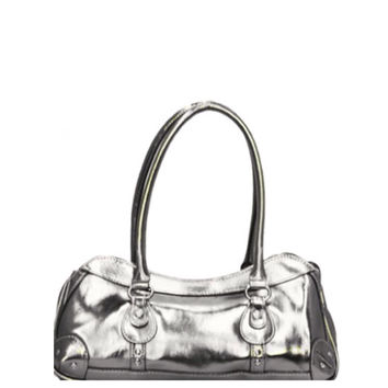 Fashionable Rina Rich Metallic Silver Shoulder Bag, Purse, Women's Accessories