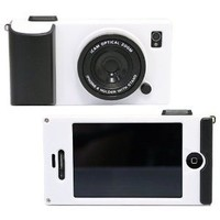Leegoal White Retro Stereo Camera Shape Protector Protective Hard Case Cover for iPhone 4 4S 4G