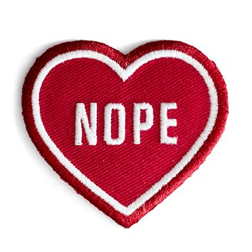 These Are Things - Iron-On Patches - Nope Heart Patch
