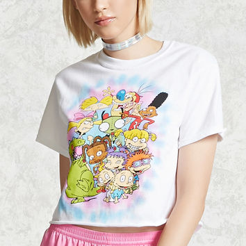 Nickelodeon Cartoon Cropped Tee