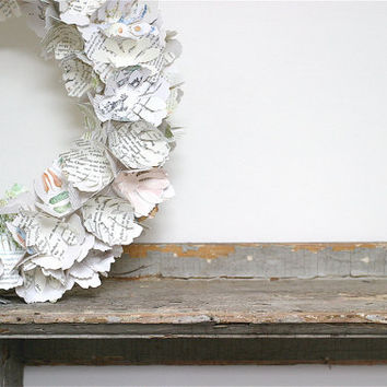 paper peony wreath & centerpiece by eclu on Etsy