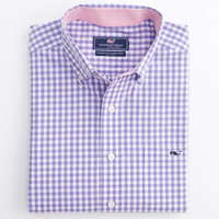 Seascape Gingham Tucker Shirt
