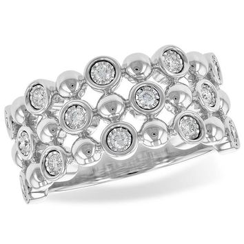 "Ben Garelick ""Champagne Bubbles"" Bezel Set Diamond Ring"