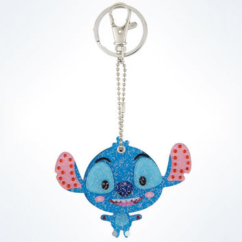disney parks stitch keychain keyring mirror new with tags