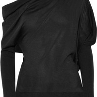 TOM FORD - One-shoulder cashmere and silk-blend sweater