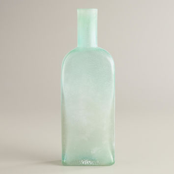 SQUARE SEA GLASS BOTTLE VASE