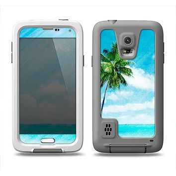 The Paradise Beach Palm Tree Samsung Galaxy S5 LifeProof Fre Case Skin Set
