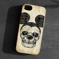 IPhone 5 Case Mickey Mouse skull Soft TPU Gel Silicone Cover iPhone gothic art