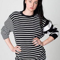 Unisex Recycled Cotton Mixed Stripe Pullover