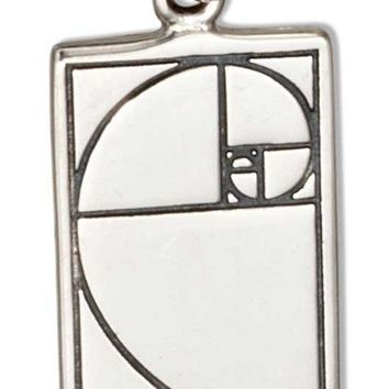 Sterling Silver Golden Ratio Fibonacci Sequence Nautilus Charm