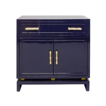 Navy Lacquer Cabinet