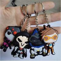 2016 Game Overwatch Keychain Tracer Reaper key chains Blizzard Entertainment Key Ring Holder