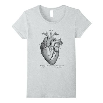 Heart Diagram Anatomical Med Student Valentines Day Shirt