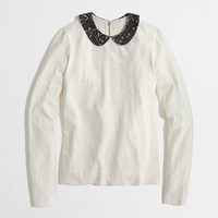 Factory Peter Pan lace collar tee