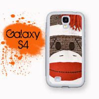 Samsung Galaxy S4 Phone Case Retro Sock Monkey Toy Hard Case For S4 Rubber Trim For Galaxy S4