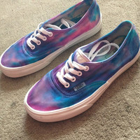 Blue Purple Pink TieDye Vans