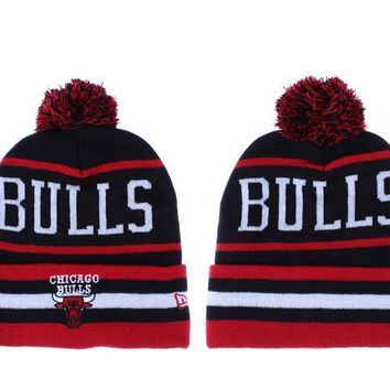 PEAPON Chicago Bulls Beanies New Era NBA Hats Black