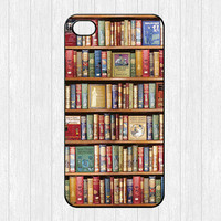 Bookshelf iPhone 4 Case,Book library iPhone 4 4g 4s Hard Case,Book Lovers cover skin case for iphone 4/4g/4s case,More styles for you choose