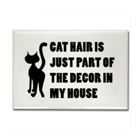 CafePress Cat Lover Rectangle Magnet - Standard Multi-color