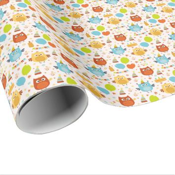 Happy Hoot Birthday Wrapping Paper