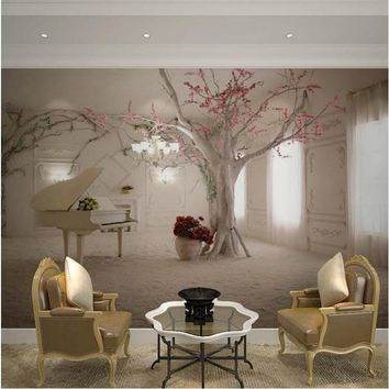 Custom any size 3D wall mural wallpapers for living room Modern fashion beautiful new photo murals tree wallpaper