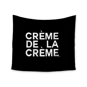 "Geordanna Cordero-Fields ""Creme De La Creme"" Black White Wall Tapestry"