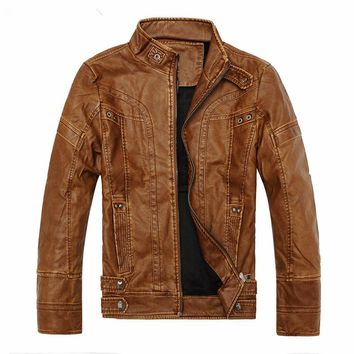 Elegant Biker Leather Bomber Jackets