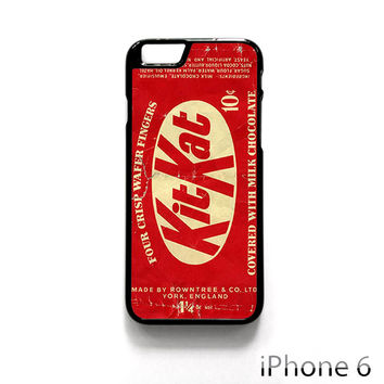 USA Rowntree KitKat 10 cent candy 1950s-1960s for Iphone 4/4S Iphone 5/5S/5C Iphone 6/6S/6S Plus/6 Plus Phone case