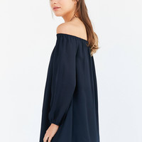 Ecote Off-The-Shoulder Swing Dress | Urban Outfitters