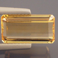 Precious Topaz: 4.22ct Peach Emerald Shape Gemstone, Extraordinary Color, Independent Designers, Natures Centerpiece Metal Clay Supply 20224