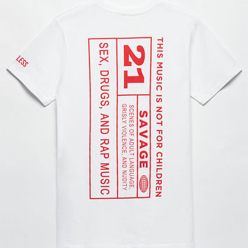 Young and Reckless x 21 Savage 21 And Over T-Shirt at PacSun.com