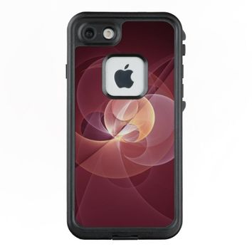 Movement Abstract Modern Wine Red Pink Fractal Art LifeProof® FRĒ® iPhone 7 Case