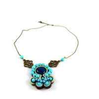 Mothers Day gift // Turquoise and agate Necklace // Gemstone Necklace // Bridesmaid gift // Girlfriend gift // Wedding Jewelry