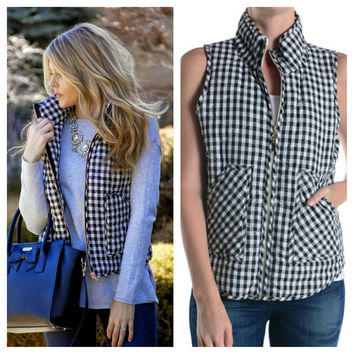 Perfect Gingham Vest