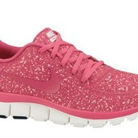 Womens Nike FREE 5.0 V4 Running Shoes Sail / Pink Force 511281-101 Size 7.5