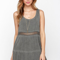Neutral Mood Washed Grey Dress