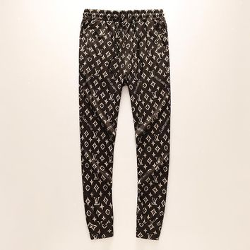 LV Louis Vuitton casual printing pants trousers sports pants Wei pants F-A00FS-GJ