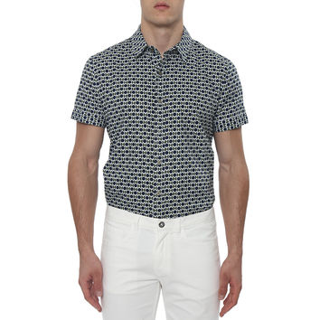Retro Concorde Print Short Sleeve Shirt