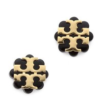 Tory Burch Logo Flower Resin Stud Earrings
