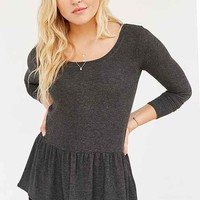 Cooperative Cozy Ruffle Hem Shirt