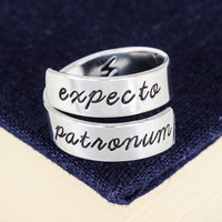 Expecto Patronum - Harry Potter - Adjustable Aluminum Wrap Ring - Style C