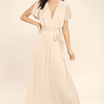 City of Stars Nude Maxi Dress
