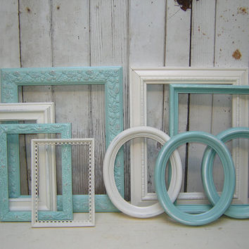 frame set collection 9 painted frames by WendysVintageShop