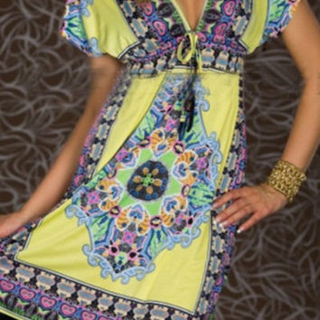 Hippie Boho Swimsuit Coverup Dress